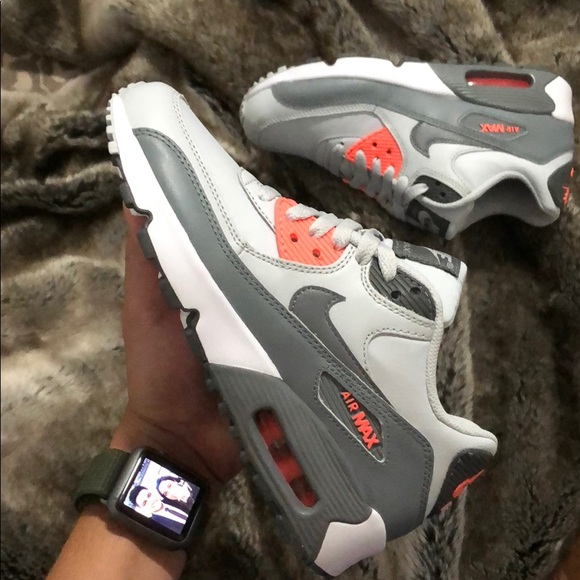 8337b7efaf Nike Shoes | Air Max 90 Gray Orange Colorway | Poshmark